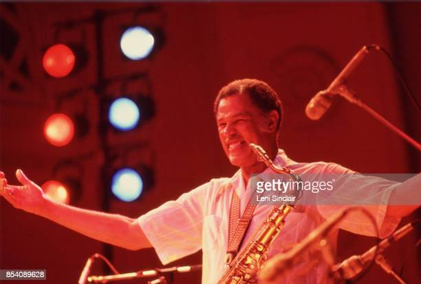 Jazz musician Dexter Gordon onstage at the Power Center in Ann Arbor on October 21 1977