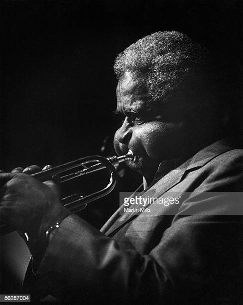 Jazz musician Dizzy Gillespie performs at the Vine Street Bar Grill circa 1982 in Hollywood California