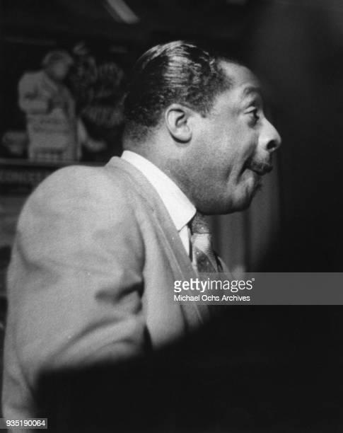 Jazz musician Erroll Garner performing at the piano in 1955 in New York New York
