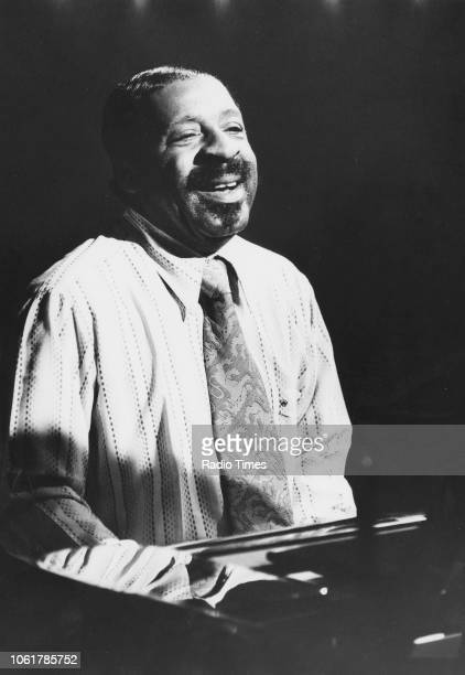 Jazz musician Erroll Garner pictured playing the piano August 1973