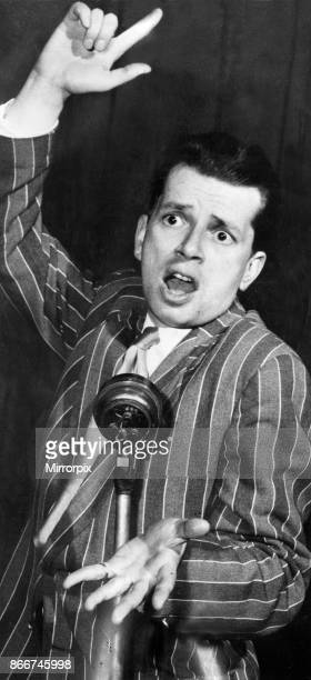 Jazz musician George Melly performing on stage circa 1969