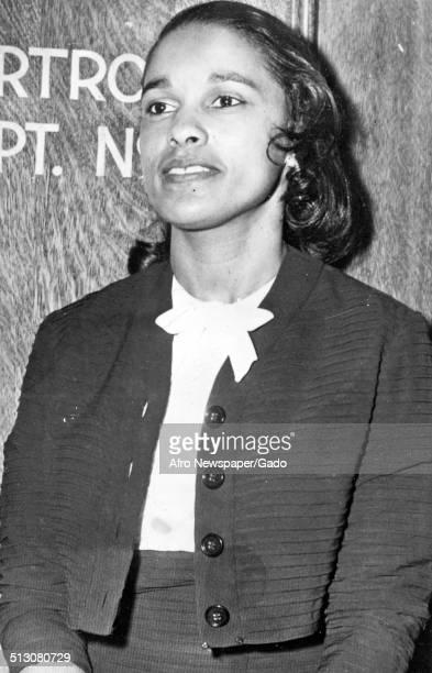 Jazz musician Harry Belafontes wife Marguerite Belafonte standing 1958