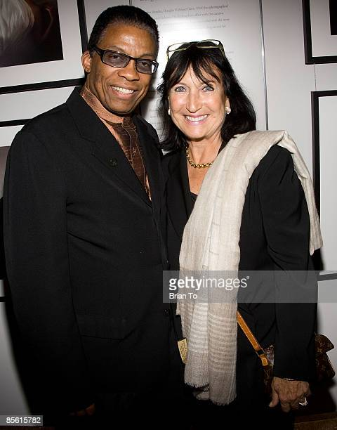 Jazz musician Herbie Hancock and wife Gigi Hancock pose at The Annenberg Space For Photography's L8S ANG3LES Exhibit Opening on March 25 2009 in Los...