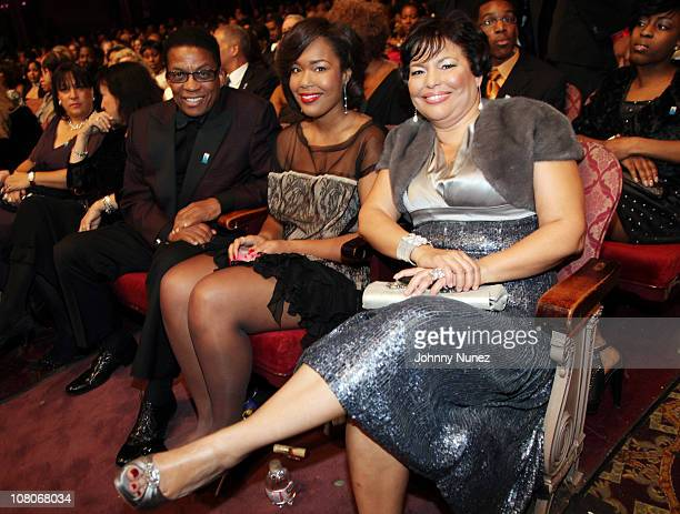 Jazz musician Herbie Hancock Ava Coleman and BET Networks CEO Debra Lee attend the 4th annual BET Honors at the Warner Theatre on January 15 2011 in...