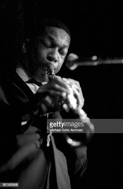 Jazz musician John Coltrane performs live circa 1959 in West Germany
