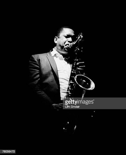 Jazz musician John Coltrane playing in June 1966 at the Drome Lounge in Detroit Michigan