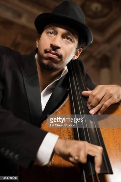 Jazz musician performing in nightclub