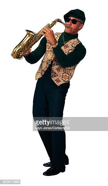 Jazz Musician Playing an Alto Saxophone