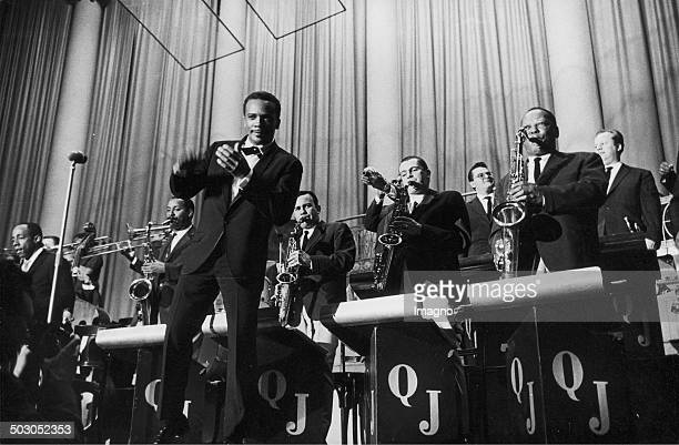 Jazz musician Quincy Delight Jones Jr with his Big Band Konzerthaus Vienna About 1960 Photograph by Franz Hubmann