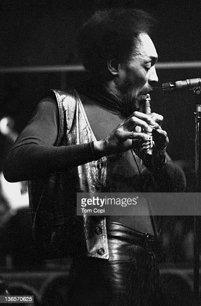 Jazz musician Sam Rivers performs at Keystone Korner club in 1977 in San Francisco, California.