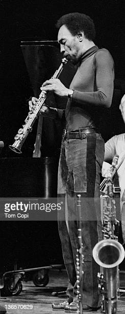 Jazz musician Sam Rivers performs at the Zellerbach Auditorium on the campus of UCBerkeley in 1978 in Berkeley, California.