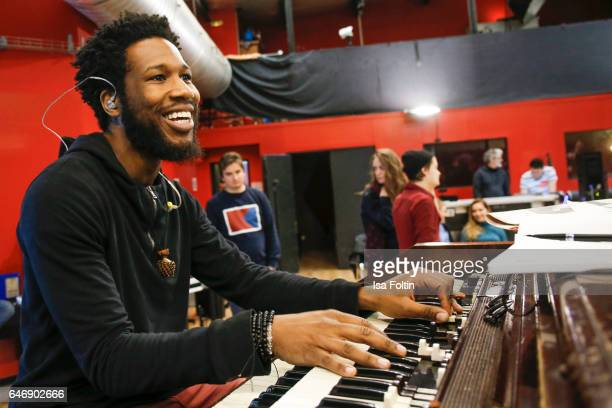 US jazz organist and pianist gospel musician and music producer Cory Henry performs at the Man Doki Soulmates Wings Of Freedom Rehearsal on February...