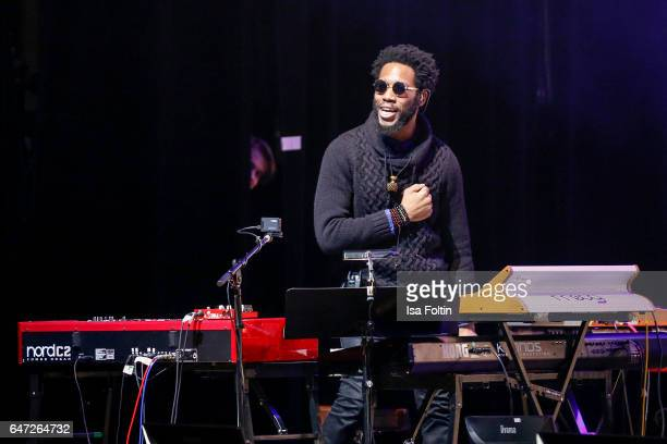 US jazz organist and pianist gospel musician and music producer Cory Henry performs at the Man Doki Soulmates Wings Of Freedom Concert on March 1...