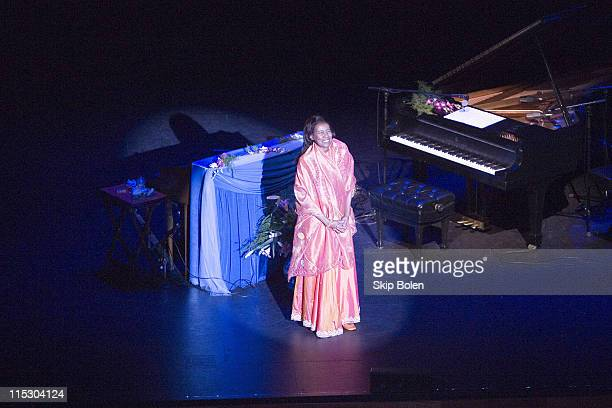 Jazz Pianist Alice Coltrane during Alice Coltrane in a World Premiere Performance of her album 'Translinear Light' at UCLA Live in Los Angeles...