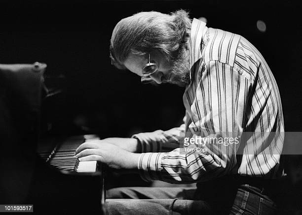 Jazz pianist Bill Evans iperforms live in 1980 in San Francisco California