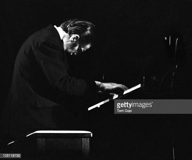 Jazz pianist Bill Evans performs on stage at the Newport Jazz Festival in Newport Rhode Island in July 1969