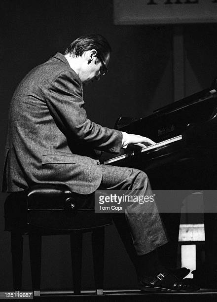 Jazz pianist Bill Evans performs on stage at the Newport Jazz Festival on July 2, 1967 in Newport, Rhode Island.