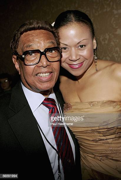 Jazz Pianist Billy Taylor and singer Michelle Carr attend the 2006 National Endowment for the Arts Jazz Masters induction cocktail reception at the...