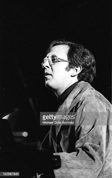 Jazz pianist Bob James performs onstage in 1977