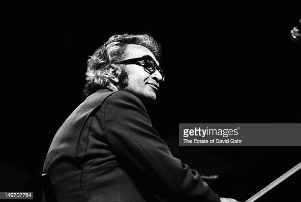 Jazz pianist composer and bandleader Dave Brubeck performs at the Newport Jazz Festival in July 1971 in Newport Rhode Island