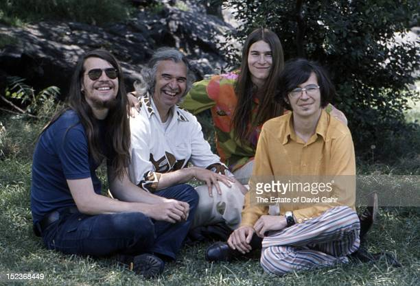 Jazz pianist, composer, and bandleader Dave Brubeck poses for a portrait with his sons, also jazz musicians and members of the jazz ensemble, with...
