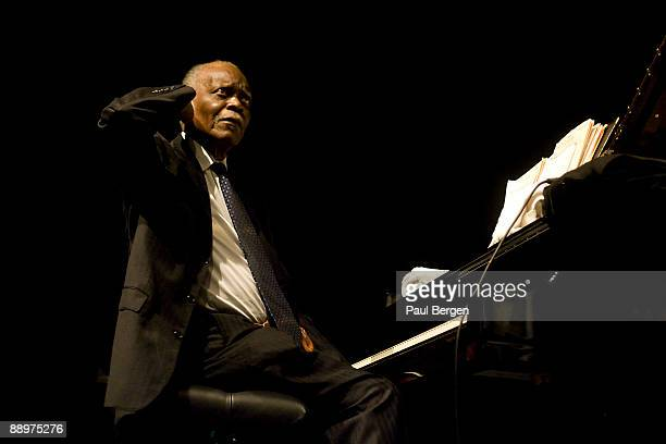 Jazz pianist Hank Jones performs at the first day of the North Sea Jazz Festival on July 10 2009 in Rotterdam Netherlands