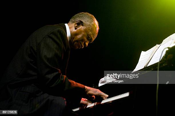 Jazz pianist Hank Jones performs on stage on the first day of the North Sea Jazz Festival on July 10 2009 in Rotterdam Netherlands