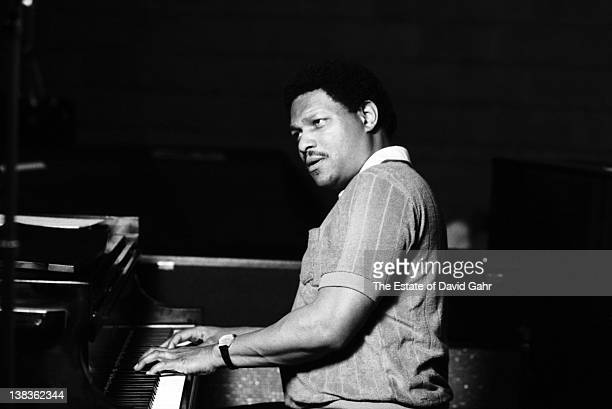 Jazz pianist McCoy Tyner in a recording session for Fantasy Records on May 29 1980 in New York City New York