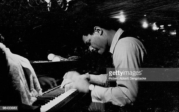 Jazz pianist McCoy Tyner performs at the Jazz Showcase a jazz club in the Printer's Row neighborhood of Chicago 1970s
