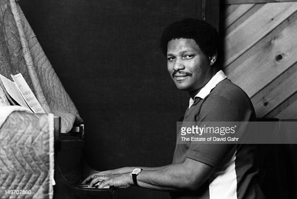 Jazz pianist McCoy Tyner poses for a portrait during a recording session on October 9 1980 in New York City New York