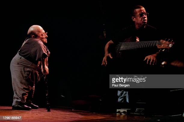 Jazz pianist Michel Petrucciani and Jazz bassist Anthony Jackson perform at North Sea Jazz festival, The Hague, Netherlands, 10th July1998.