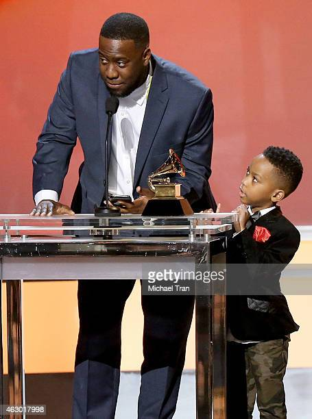 Jazz pianist Robert Glasper speaks onstage during The 57th Annual GRAMMY Awards premiere ceremony at STAPLES Center on February 8 2015 in Los Angeles...