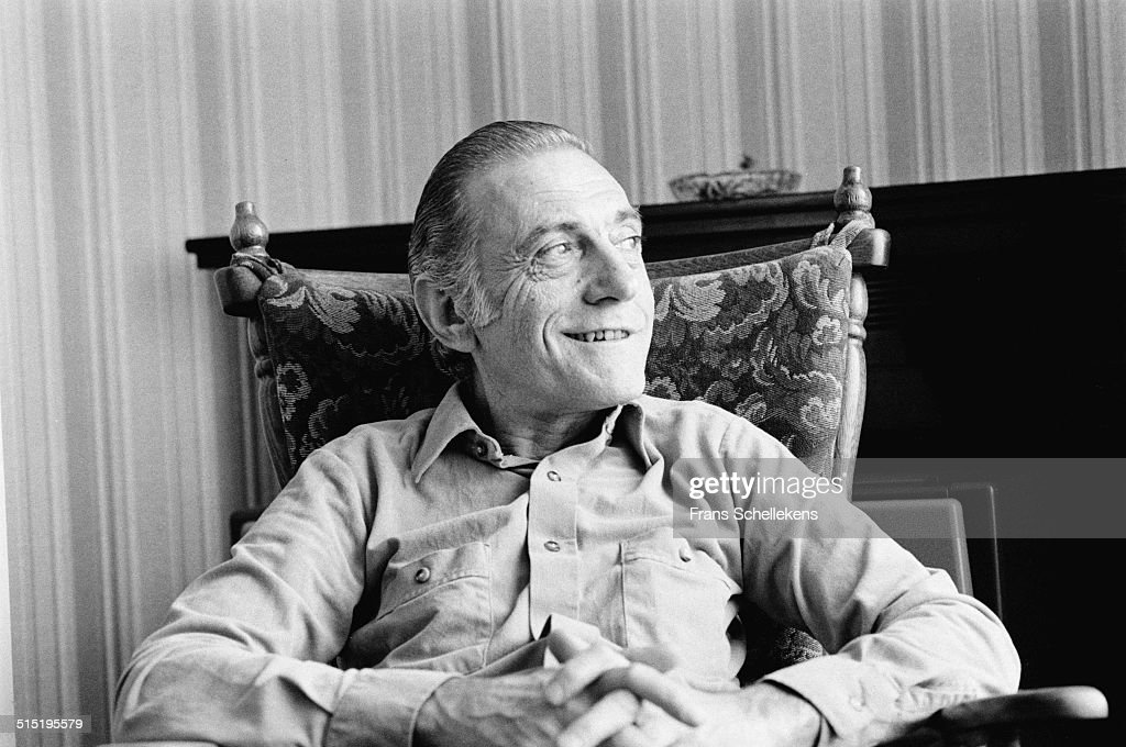 Jazz pianist Sal Mosca being interviewed in Amsterdam, Netherlands on 22nd June 1981.