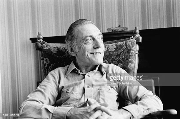 Jazz pianist Sal Mosca being interviewed in Amsterdam, Netherlands on 22nd June 1981.