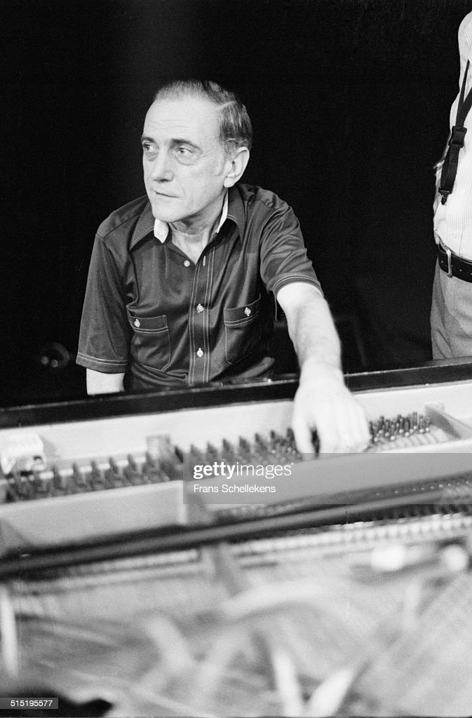 Jazz pianist Sal Mosca performs during the NOS jazzfestival at de Meervaart, Amsterdam, Netherlands, 12th August 1982.