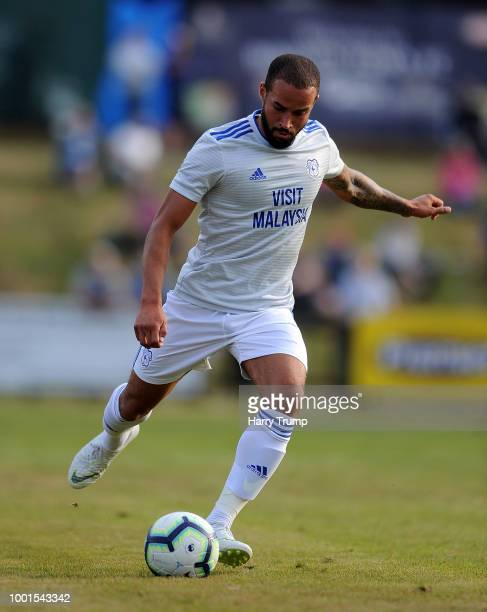 Jazz Richards of Cardiff City during the PreSeason Friendly match between Bodmin Town and Cardiff City at Priory Park on July 18 2018 in Bodmin...