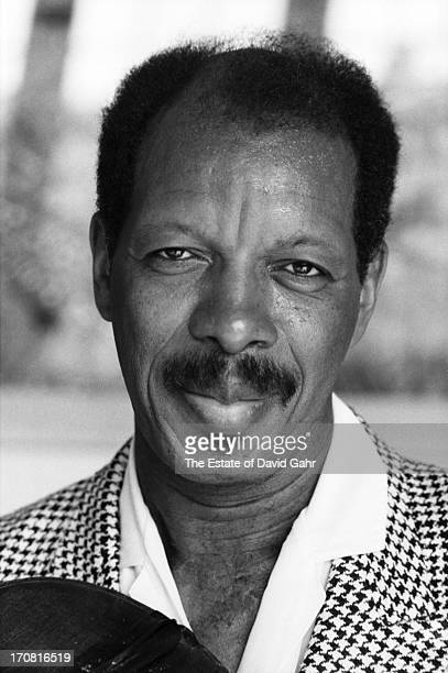Jazz saxophonist and composer Ornette Coleman poses for a portrait at his home on May 28 1986 in New York City New York