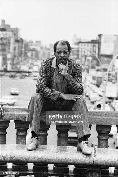 Jazz saxophonist and composer Ornette Coleman poses for a portrait on June 19 1986 in New York City New York