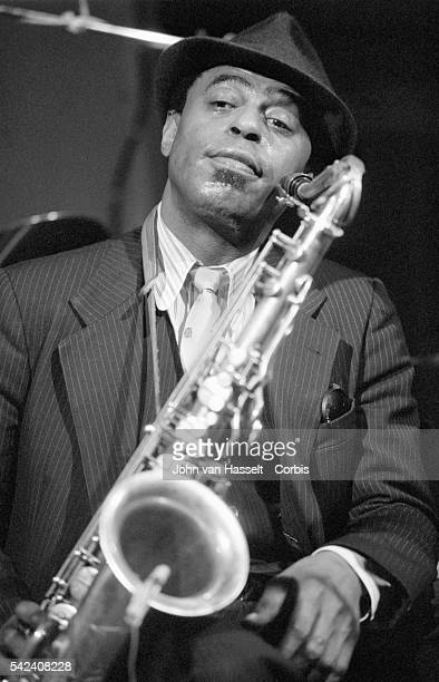 Jazz saxophonist Archie Shepp performs at the New Morning club in Paris France