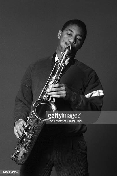 Jazz saxophonist composer and bandleader Branford Marsalis poses for a portrait on January 4 1985 in New York City New York