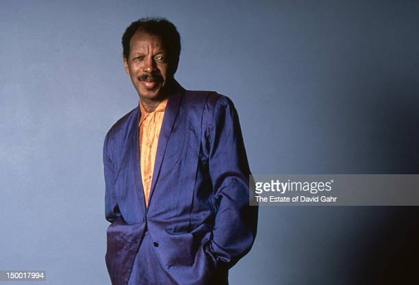 Jazz saxophonist composer and bandleader Ornette Coleman poses for a portrait at home in March 1987 in New York City New York