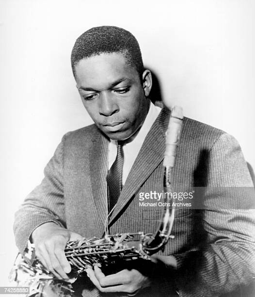 Jazz saxophonist John Coltrane poses for a portrait in circa 1955