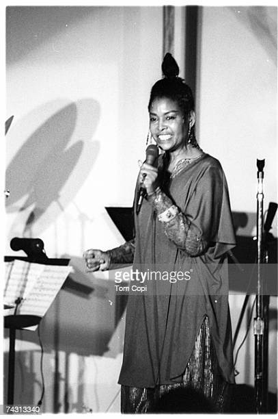Jazz singer Abbey Lincoln performs onstage in 1979 in San Francisco California