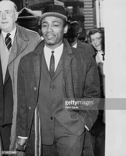 Jazz singer Aloysius 'Lucky' Gordon leaving court giving evidence in the Christine Keeler case October 3rd 1963