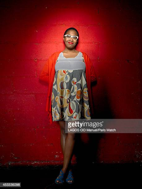 Jazz singer Cecile McLoren Salvant is photographed for Paris Match on May 12 2014 in Paris France