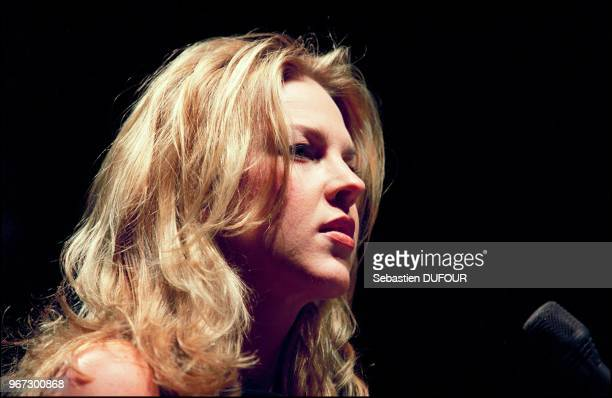 Jazz singer Diana Krall performs live at Olympia concert hall in Paris