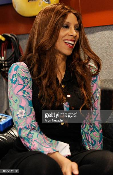 Jazz singer Kaylene Peoples attends her recording session for My Man with Hubert Laws at The Mouse House Studio on April 29 2013 in Altadena...
