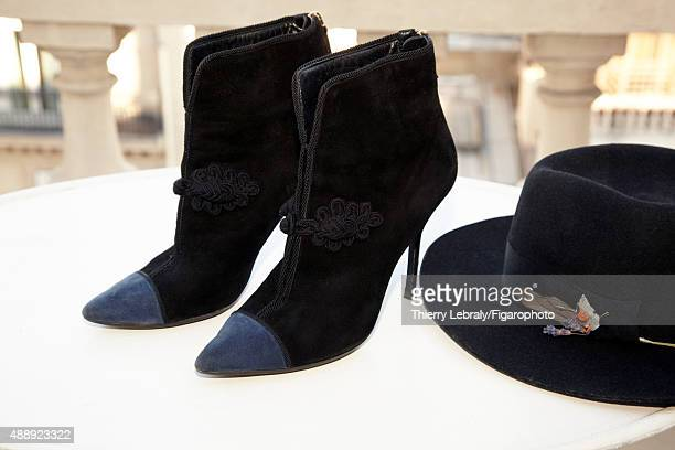 Jazz singer Melody Gardot's style inspirations are photographed for Madame Figaro on June 16 2015 in Paris France Hat boots PUBLISHED IMAGE CREDIT...