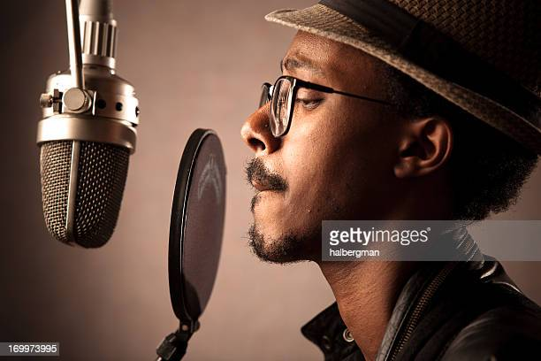 Jazz Singer Recording Vocals