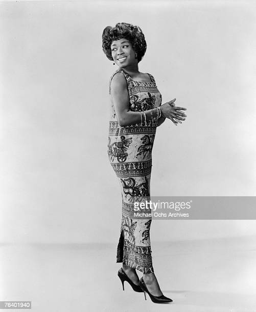 Jazz singer Sarah Vaughan who possessed one of the finest vocal instruments in the history of jazz poses for a publicity shot circa the early 1960s...